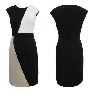 Crepe Colorblock dress